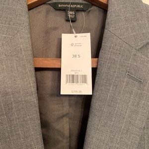 Banana Republic Suits & Blazers - Banana Republic Men's Medium Grey Pinstripe